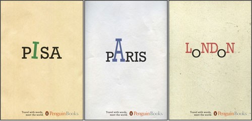 An outstanding example of typography as art. Book covers by Penguin books.