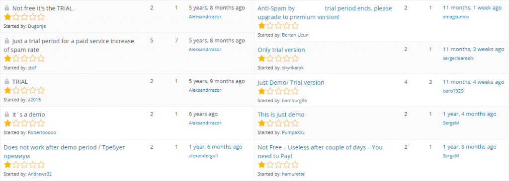 Demo plugins appearing to be free