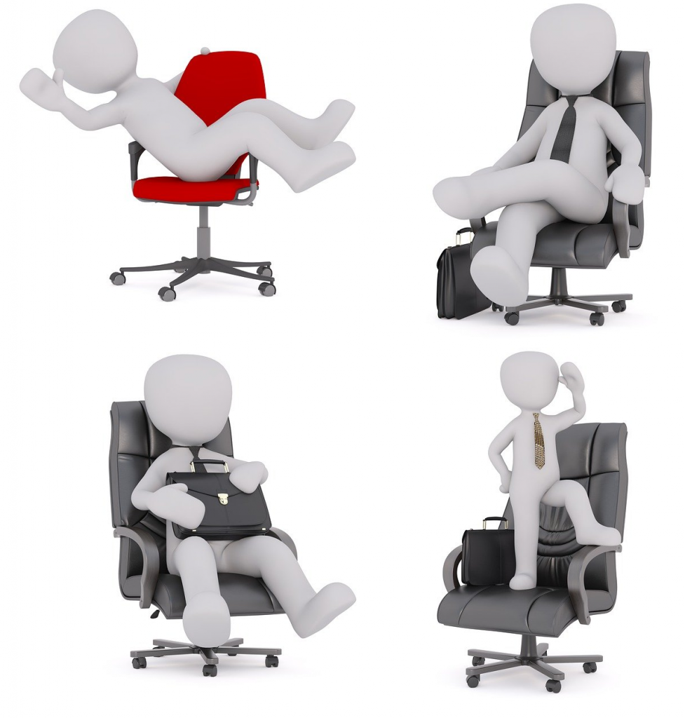 Fun on office chairs