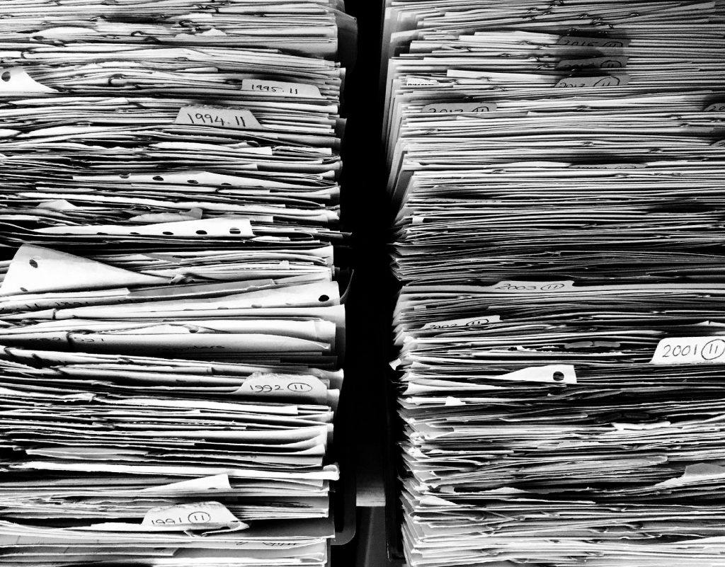 Patchy data in piles of papers