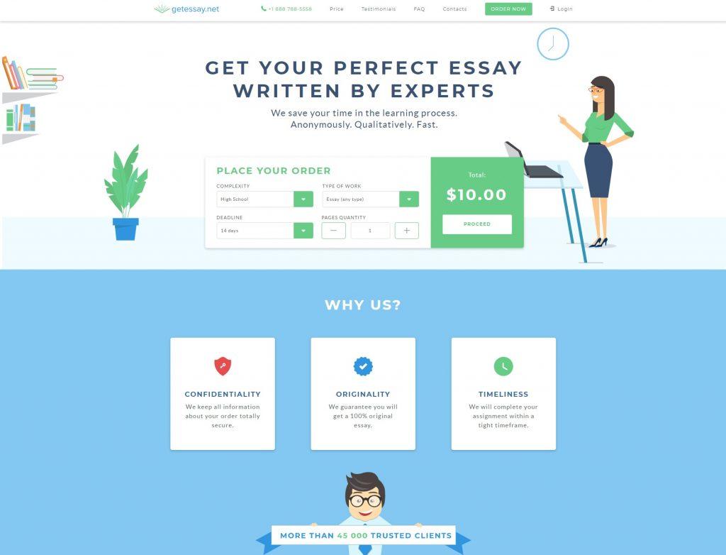 Uncluttered essay website